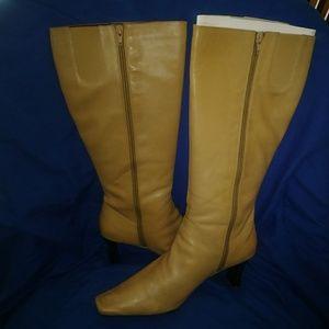 Liz claiborne tan knee high boots